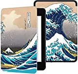 GLGSHOULIAN Caso para Kindle,Caso Voor Kindle Paperwhite 2018 Smart Cover Met Auto Wake/Sleep Pasado Amazon All-New Kindle Paperwhite 4 Cover (10Th Gen-2018),Waves