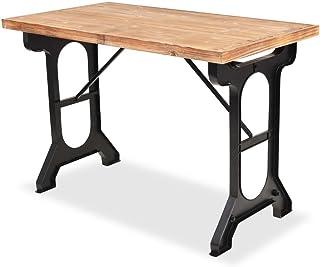 Festnight Table de Salle à Manger en Sapin Massif Dessus de Table en Bois