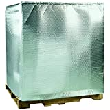 Boxes Fast BFINC4840 Cool Shield Insulated Pallet Cover, 48' x 40' x 48', Bubble Cushion, Silver (Pack of 5)