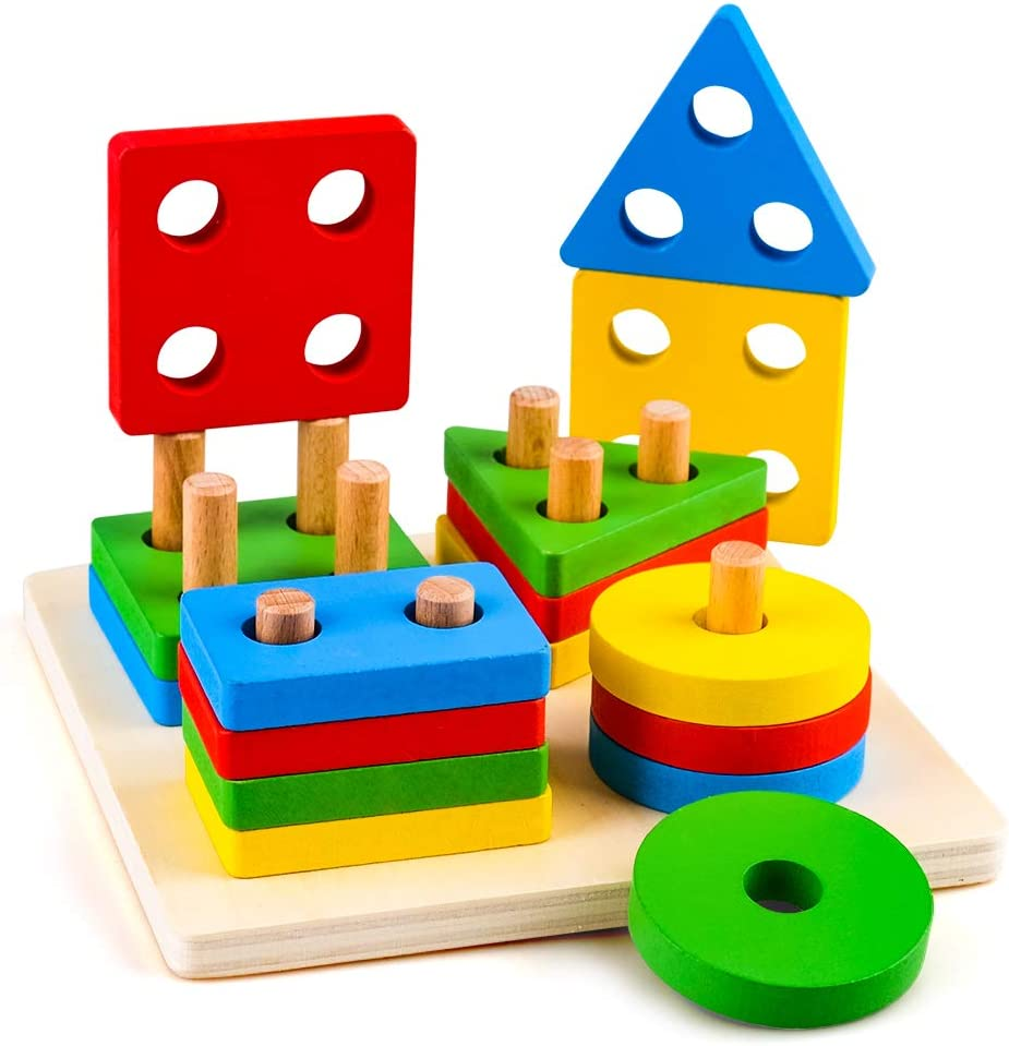 Best Montessori Toys for Toddlers More Durable Version Juia Wooden Shape Toys