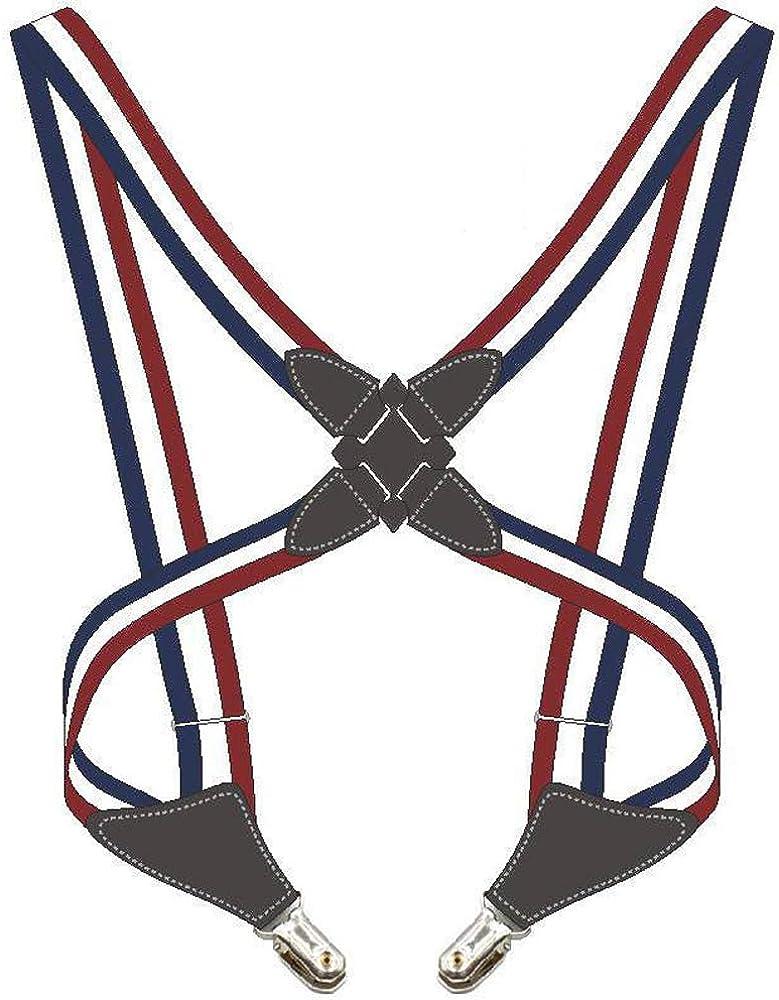 Suspenders For Men Hip-Clip Design Holster Style Elastic Suspenders Groomsmens Gift