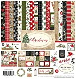 Carta Bella Paper Company Christmas Collection Kit paper, Red/Green/Black/Tan