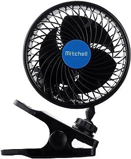 Jhua Clip Ventilator Kleiner Kraftvoller beweglicher Tischventilator Fan für Kinderwagen Auto,Büro Laptop Outdoor Camping 12v