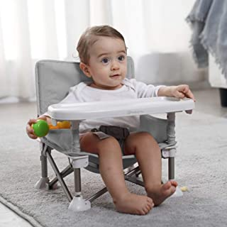 Mumfactory® baby floor seat   Baby Seat with Tray   Fordable baby seat for Eating, playing, Beach, picnic, garden   8 mont...
