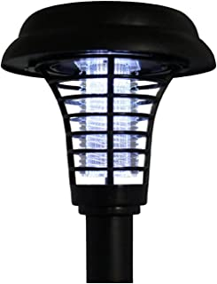 JMEXSUSS Garden Stake Repellent Light Outdoor Flying Insect Mosquito Killer Solar Powered Led Bug Zapper Lamp for Farm, Garden, Patio, Outdoor Ground (01)