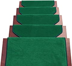 JIAJUAN Non-Slip Stair Carpet Treads Indoor Self Adhesive Stairs Floor Rugs Mats, 5 Styles, 4 Sizes, Customize (Color : E...