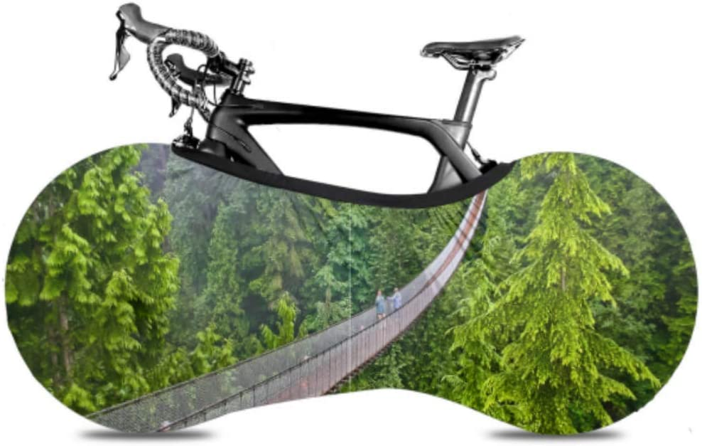 ENEVOTX Areial View of Sales results No. 1 Suspension Bike Bridge Fol Large special price !! Cover Mountain