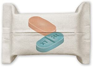 DIYthinker Health Care Products Pill Illustration Pattern Cotton Linen Tissue Paper Cover Holder Storage Container Gift 17...