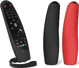 MWOOT 2 Unidades Mando Funda Compatible con LG Magic Remote AN-MR19BA AN-MR18BA AN-MR650 AN-MR600, Anti-caída Carcasas Silicona para LG Mando a Distancia Protection Negro y Rojo