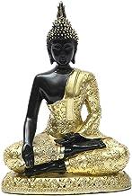Baoblaze Seated Buddha Statue Buddhism Thai Meditating Praying Figurines Handmade Resin Sculpture Decoration for Desktop L...