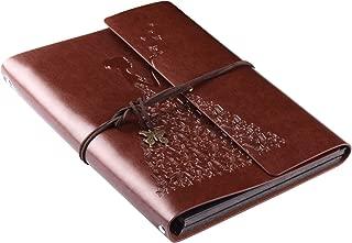 Scrapbook Album,Kinsky Leather Photo albums Loose-leaf Albums 60 pages,Memory Book Birthday Wedding