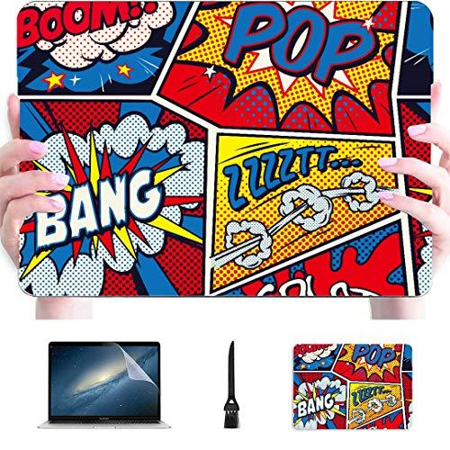 Estuche para Macbook Air Retro Pop Art Comic Shout Plástico sin Costuras...