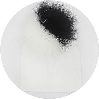 Baby Cotton Hat Girl Boy 0-2Years Newborn Hat Kids Pom Pom Hat for Children,white7,3month to 2Y 18x19cm