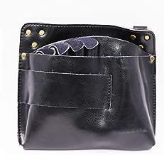 Jiabei Leather Barber Scissor Hairdressing Holster Pouch Case With Waist Shoulder Belt Rivet Clips Bag For Salon Bag (Color : Black)