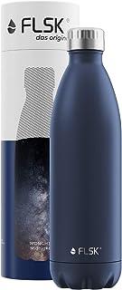 FLSK フラスク 水筒 真空断熱 ステンレスボトル 魔法瓶 炭酸 OK (1000ml, ミッドナイト)