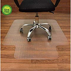 PERFECT FOR HARD FLOORS: Protect your flooring from scratches and dust of any kind with this perfect office floor mat for hardwood floors, tile, laminate, vinyl, concrete, and linoleum. The office chair mat is designed for Hard Floors only. SAFE FOR ...