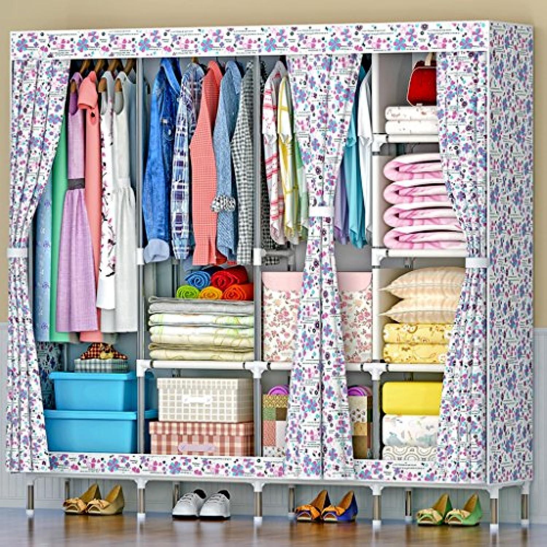 MMM& Oxford Tuch Einfacher Kleiderschrank Stahlrohr Dickes Gewebe Groe Kleiderschrnke Kleiderbügel (Farbe    3)