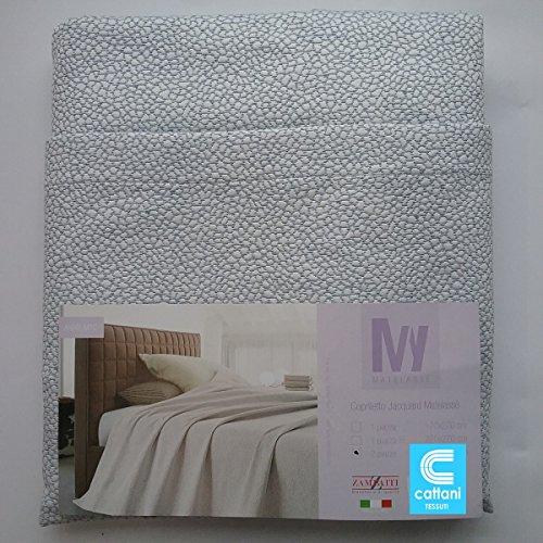 mauro Couvre-lit pour lit 2 Personnes - Tissu Matelassé - Taille 260 x 270 cm - Couleur Grise