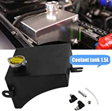 RYANSTAR Radiator Coolant Overflow Tank Can for Nissan Radiator 240SX S13 Silver Black Color