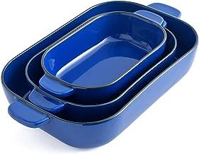 KVV Ceramic 13X9 Baking Dish Set,Kitchen,Cake Dinner,Banquet and Daily Use,Lasagna Pan,Ovenware Casserole Pan,ceramic bake...