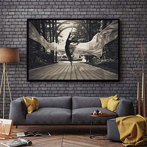 XIANRENGE Póster De Impresión HD, Bailarina De Ballet Abstracto Póster Sin Cerco,Moderno Arte De Pared Abstracta Inkjet Canvas Foto,Pintura De Salón Decoracion De 40×60Cm.198