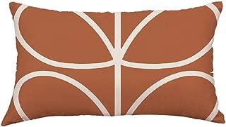iLUGU Geometry Leaves Printinginging Pillow Case Flax Painting Linen Cushion Cover Sofa Home Decor 12X20