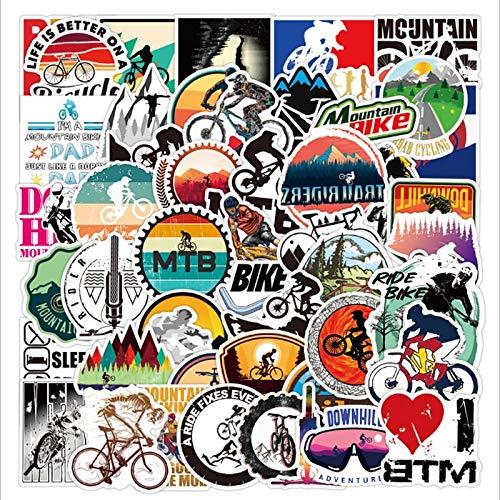 Mountain Bike Graffiti Waterproof Skateboard Travel Suitcase Phone Laptop Luggage Stickers Cute Kids Girl Toys 50 Pcs
