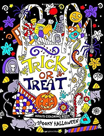 Adults Coloring Book: Spooky Halloween Fun and Relaxing Designs