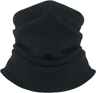 2 Pack Fleece Winter Neck Warmer for Men Women Ski Neck Gaiter Cover Face Mask