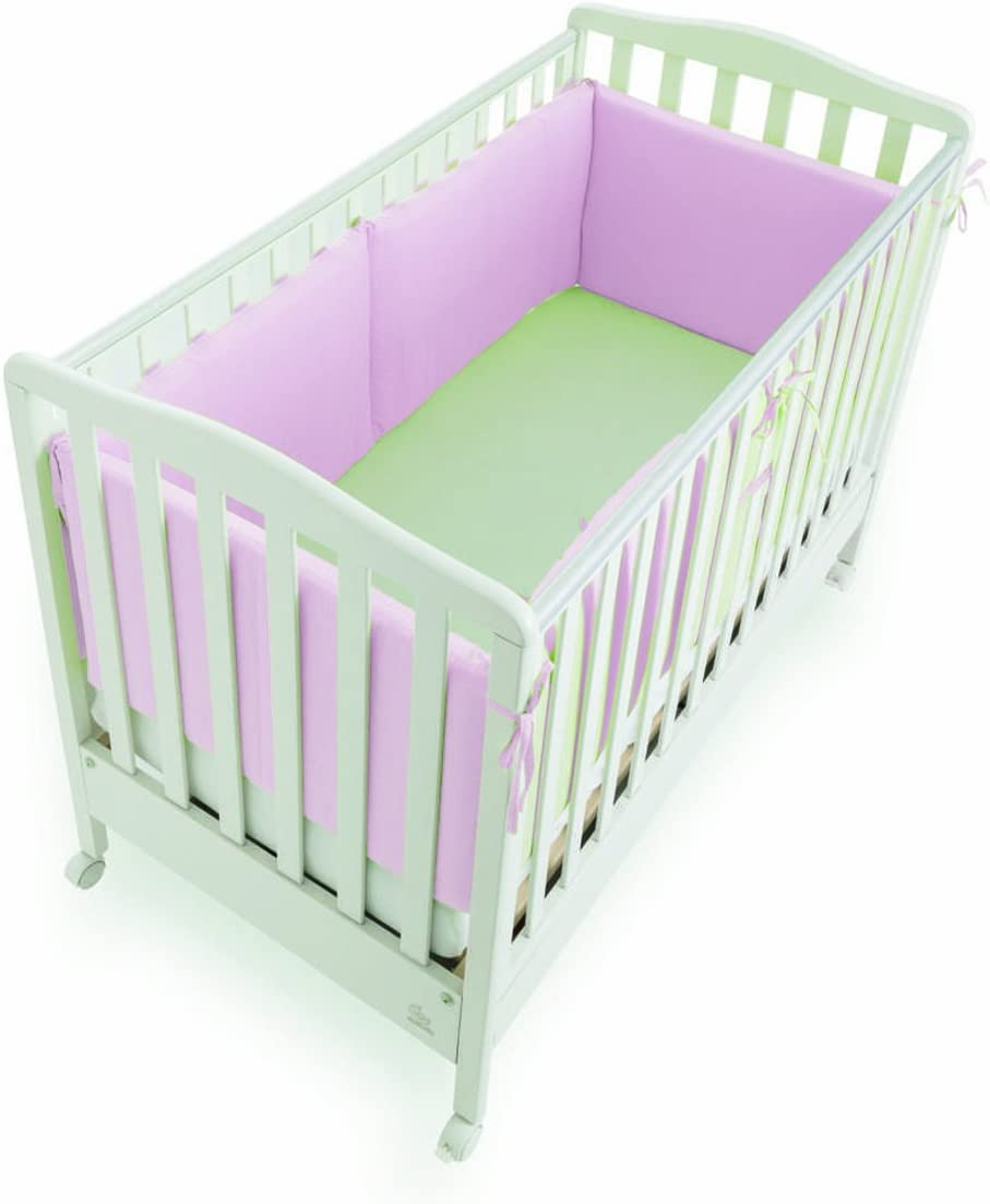 Italbaby 4 Sides Giroletto Bumper, 40 cm, Pink, Multi-Color, One Size