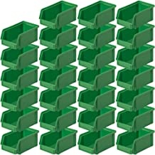 "27 cajas transparentes""CLASSIC"" FB 4, 230/200 x 140 x 122 mm, 3,7 litros, color verde"