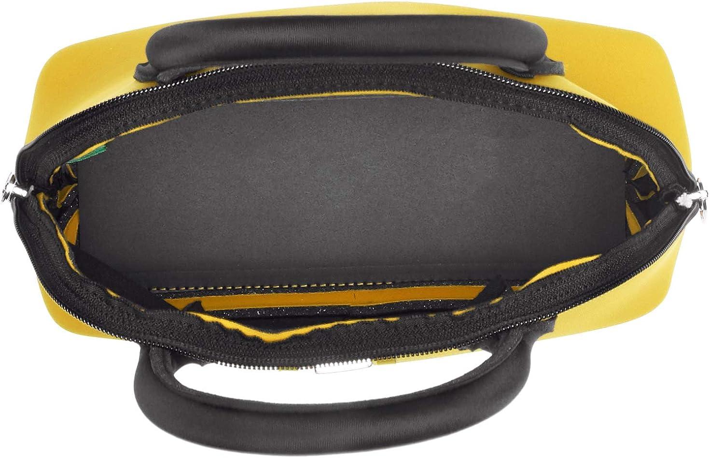 SAVE MY BAG Princess Mini, Sac à main Femme, rouge, 25x19x12 centimeters (W x H x L) Jaune (Rabat)