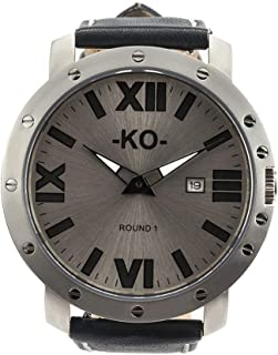 The Steel Blue 50MM Luxury Mens Watch, Ultra Thin Stainless Steel Case, Anti-Reflection Sapphire Crystal, Luminiscent Hands and Numbers, 10 ATM Water Reisistant, Japanese Engineered Machine