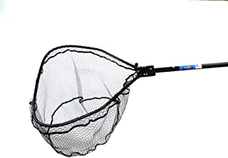 Ranger Nets Knotless Flat Bottom Rubber Coated Net with Telescopic Octagon Handle