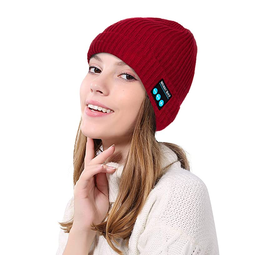 Sinwo Men Women Winter Bluetooth Wireless Headphone Headset Music Beanie Knit Hat with Speakers