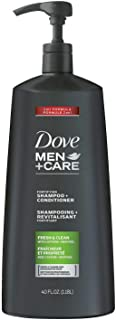 Dove Men+Care 2 in 1 Shampoo and Conditioner, Fresh and Clean (40 oz Club Size)