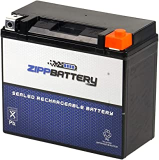 Rechargeable YTX20L-BS High Performance Power Sports Battery - Replacement Motorcycle - Maintenance Free - Zipp Battery