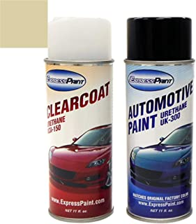 ExpressPaint Aerosol - Automotive Touch-up Paint for Ford Ranger - Harvest Gold Metallic Clearcoat B2/M6926 - Color + Clearcoat Package
