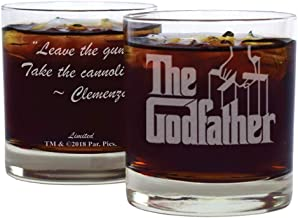 The Godfather Movie Whiskey Glass With Quote,