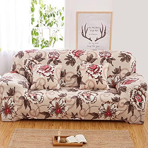 WXQY Funda de sofá de Estilo nórdico, Funda de sofá Flexible con Todo Incluido, sofá de Esquina en Forma de L para Sala de Estar, Toalla A2 de 3 plazas