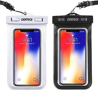 CHOETECH Funda Impermeable Universal, [2 Pack] Bolsa Impermeable Móvil, Funda Sumergible para iPhone 11 Pro MAX/SE/X/XS MAX/XR/8 Plus,Samsung Galaxy S20/S10/S9,BQ Aquaris,Xiaomi y Móviles hasta 6.5''