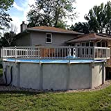 Vinyl Works 24-Inch Taupe Premium Resin Above-Ground Pool Fence Kit B - 3 Sections