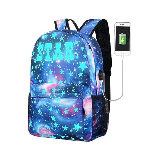 Sameno Galaxy School Bag Collection Canvas USB school Backpack for Teen  Girls Kids 0b2c36ff2d17a