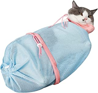Licogel Professional Reusable Versatile Biteproof Cat Grooming Bag Mesh Detachable Sturdy Polyester Scratchproof Kitten Sh...
