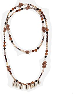 NICE-SHOW Bohemian Handmade Simulated Pearls Choker Necklace Layer Multi Color Ethnic Wedding Shell Statement Necklace