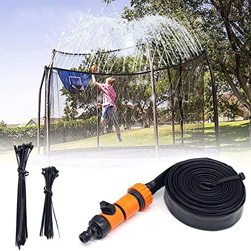 ZLGP Rociador de TrampolíN, Rociador de Agua para TrampolíN TrampolíN Accesorios Aspersor para DiversióN Verano al Aire Libre Juguete Rociador de TrampolíN 8m / 26ft