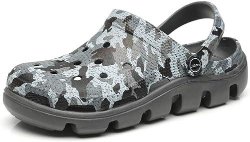 Yydt Chaussures pour Hommes Sports de de Plein air et Pantoufles Chaussures de Trou pour Camouflage Estival pour Hommes Chaussures pour Hommes (Couleur   43 EU)  contre authentique