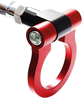 iJDMTOY Red Track Racing Style Tow Hook Ring for Scion FR-S Toyota 86 Subaru BRZ Impreza WRX STi etc, Made of Lightweight CNC Aluminum