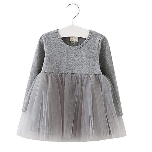 99fc600a6863 XUNYU Baby Girls Toddler Tutu Dress Long Sleeve Pink Infant Children  Clothes Party Wear Pleated Tops
