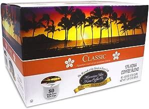 Hawaiian Isles Kona Coffee 80 Single Serve Coffee K Cups (Classic)